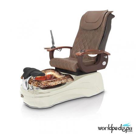La Tulip 2 Pedicure Chair - Truffle White Rustic Gold