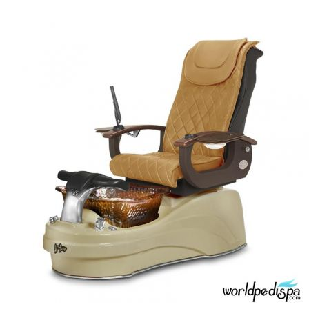 Gulfstream La Tulip 3 Pedicure Chair - Butterscotch Cappuccino Rustic Gold