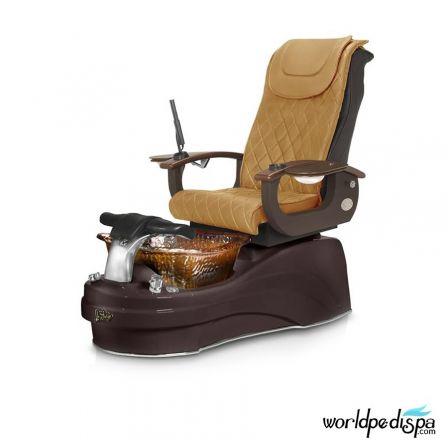 Gulfstream La Tulip 3 Pedicure Chair - Butterscotch Black Rustic Gold