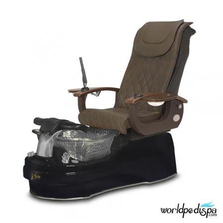 Gulfstream La Tulip 3 Pedicure Chair - Truffle Black BLack