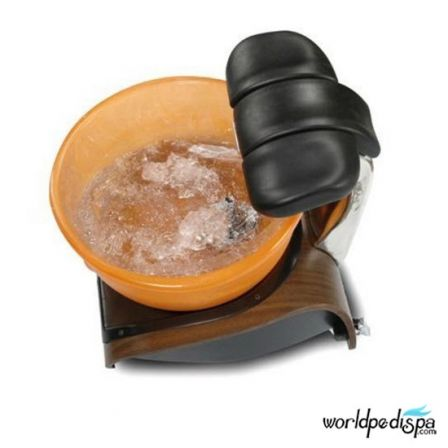 Gulfstream Mini Lavender Portable Pedicure Spa - Top View with ice