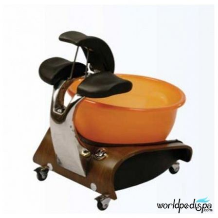 Gulfstream Mini Lavender Portable Pedicure Spa - adjusted footrest