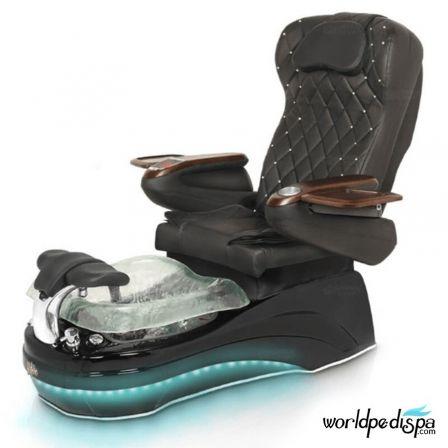 La Tulip 2 Pedicure Chair - 9660 Black Black Clear