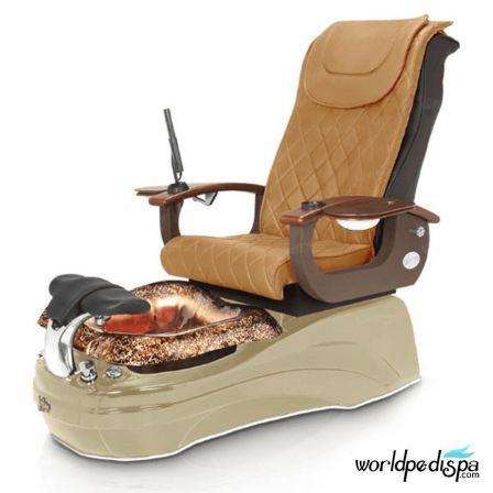 La Tulip 2 Pedicure Chair - Butterscotch Cappuccino Gold