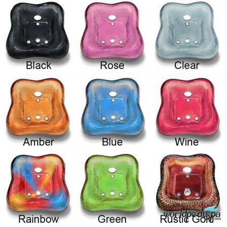 La Tulip 2 Pedicure Chair - Glass Bowl Color Options