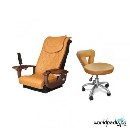 Gulfstream La Tulip 3 Pedicure Chair - 9620 Chair with Spider Stool