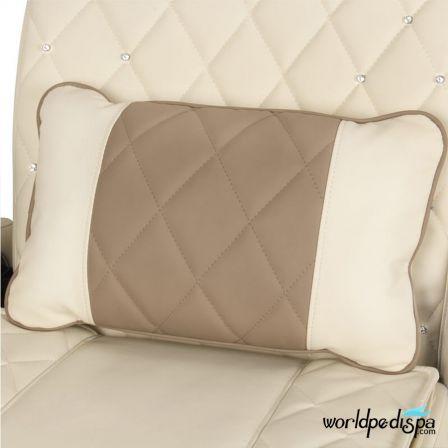 Gulfstream La Tulip 3 Pedicure Chair - Biscuit Cappuccino Pillow
