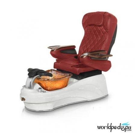 Gulfstream La Tulip 3 Pedicure Chair - Burgundy White Gold