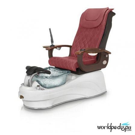 Gulfstream La Tulip 3 Pedicure Chair - Hollyhock White Clear