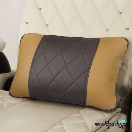 Gulfstream Camellia Pedicure Chair - Butterscotch Truffle Pillow