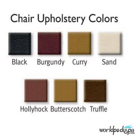 Gulfstream GS Tiffany Double Pedicure Bench - Upholstery Color Options