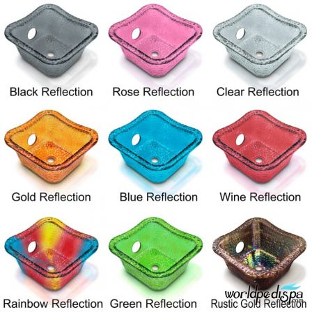 Gulfstream GS Vienna Triple Pedicure Bench - Glass Bowl Color Options