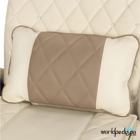 Gulfstream GS Vienna Triple Pedicure Bench - Biscuit Cappuccino Pillow