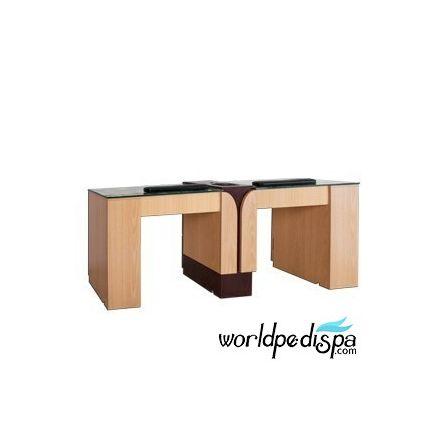 AN - Ion Oak Double Nail Table