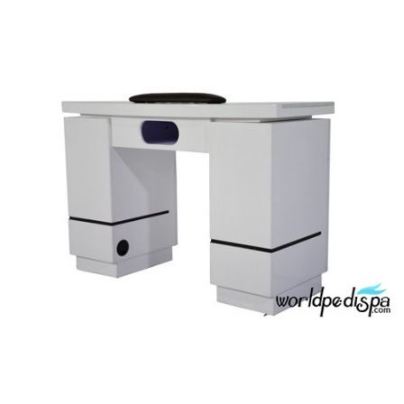 OverStock Sale- White  Nail Table  w. Slot for Gel Light