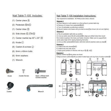 INSTRUCTION - T06 Nail Table