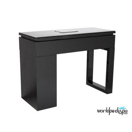 Piano Black Valentino Black Manicure Table