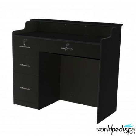 """Fab Reception Desk 48"""" Black"""