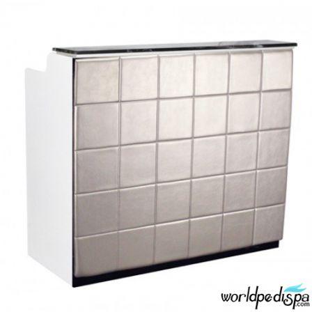 White/Silver/Black Marble - Fab Reception Desk