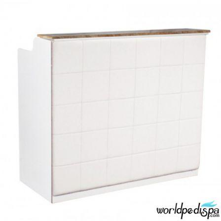 White/White/White Marble - Fab Reception Desk