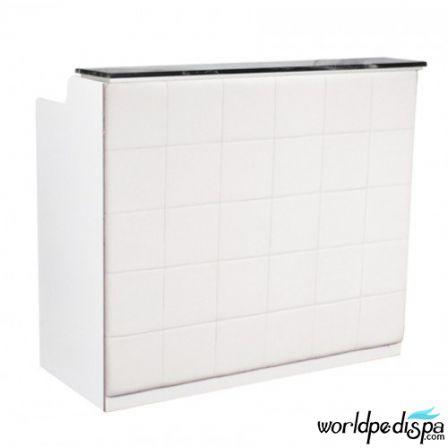 White/White/Black Marble - Fab Reception Desk