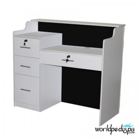 Back Black Low Counter - Fab Reception Desk