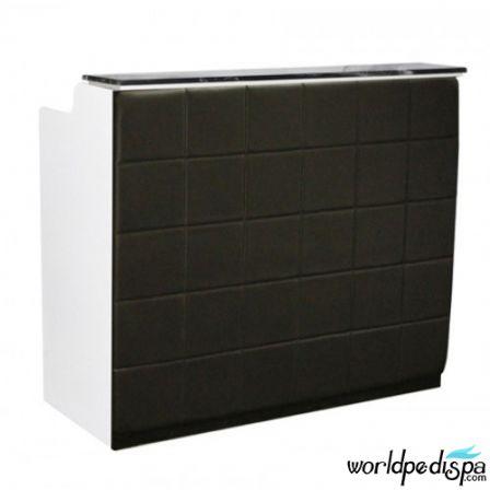 White/Black/Black Marble - Fab Reception Desk