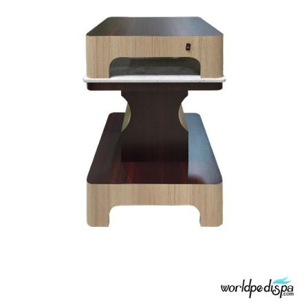 Ash/Rosewood - Nail Dryer Table for Salon