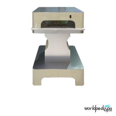 Beige/Aluminum - Nail Dryer Table for Salon