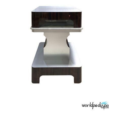 Cherry/Aluminum -Nail Dryer Table for Salon
