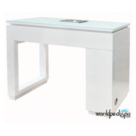 White Valentino Lux Manicure Table Back