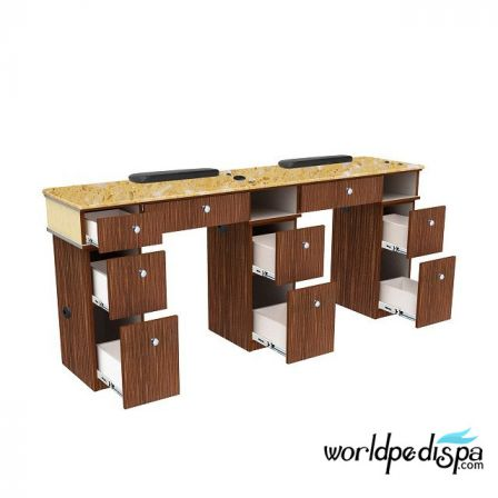 Verona II Double Nail Table