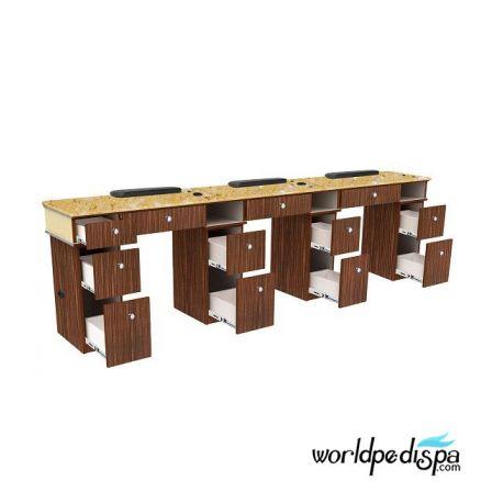 Verona II Triple Nail Table