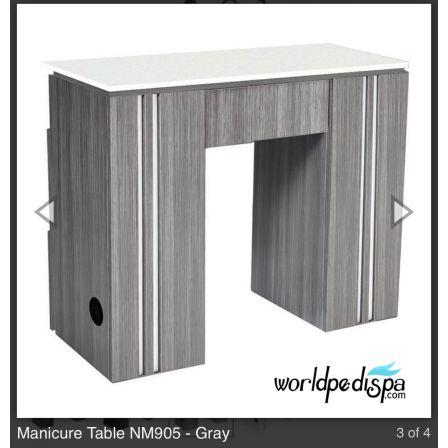 Grey/White Top -  WS-NM-905 Nail Table