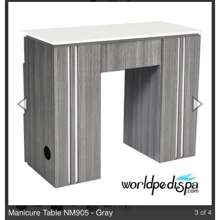 Grey/White Top -  WS- NM-905 Nail Table w/ Ventilation