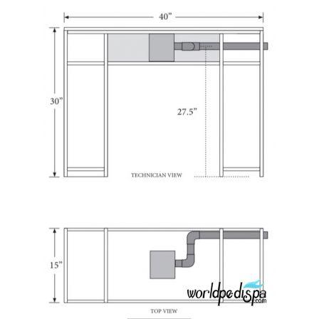 WS- NM-905 Nail Table w/ Ventilation