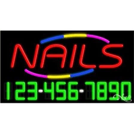 Nails: Red. Border: B,Y,P,. Phone: G,W,.