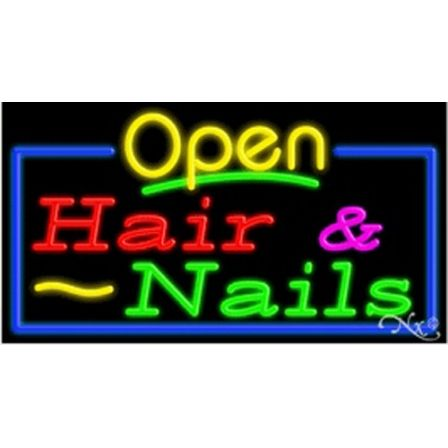 Hair & Nails: R,G,P,Y,. Open: Yellow. Border: G,B
