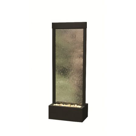 6' Center Mount Black Onyx Gardenfall With Clear Glass