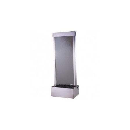 8 ft Center Mount Brushed Stainless with Clear Glass Garden Fall