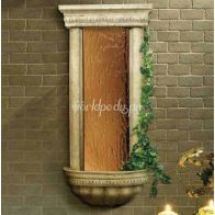 Bellezza Smooth Bronze Mirror and Ancient Stone Frame
