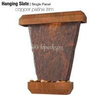 Designer Series Hanging Slate Waterfall with Patina Copper