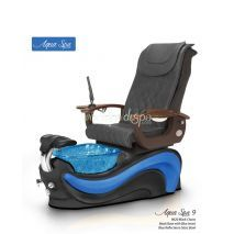 Aqua 9 9620 black chair, blue bowl