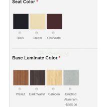 Seat & Base Color