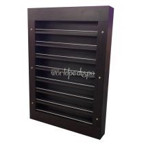 PC03 Wall Polish Rack Chocolate