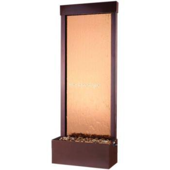 6 ft Rear Mount Dark Copper Gardenfall with Bronze Mirror