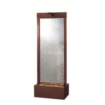 6' Center Mount Dark Copper Gardenfall With Clear Glass