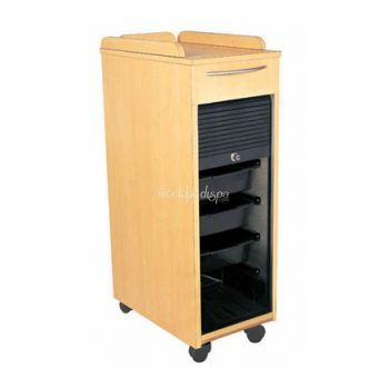 BS-CSH-2757-Wood Trolley with Lock