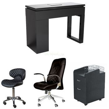 Valentino Lux Manicure Table Package (Black)